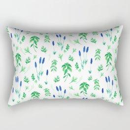 Watercolor lavender & basil Rectangular Pillow