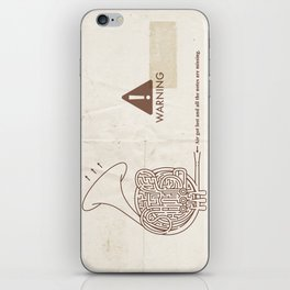 Horn players, watch out!! :P iPhone Skin