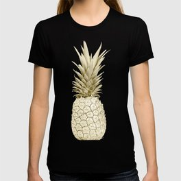 Pineapple Pineapple Gold on Navy Blue T-shirt