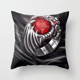 Dragon Signet Ring Throw Pillow