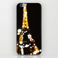 The lights of the eiffel tower iPhone & iPod Skin