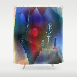 Paul Klee Glance of a Landscape Shower Curtain