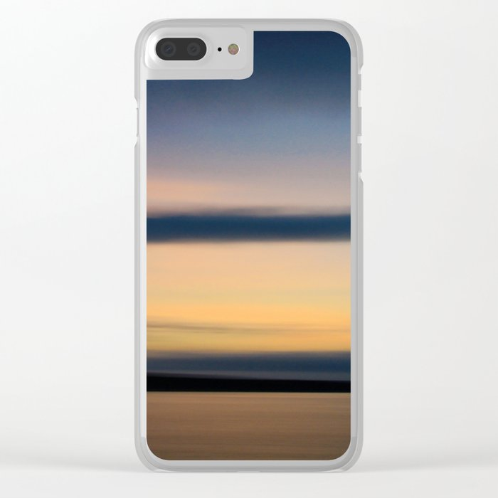 sunset make happiness Clear iPhone Case