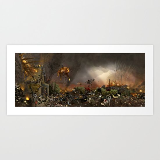 Apocalypse Leeds Art Print