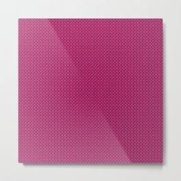 Knitted spring colors - Pantone Pink Yarrow Metal Print