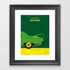 No478 My Repo Man minimal movie poster Framed Art Print