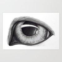 Portrait of Dog's Eye Art Print