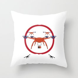 """""""Drone Zone"""" for camera and video lovers like you! Photography is the new in with this cool tees!  Throw Pillow"""