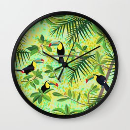 Toucans Wall Clock