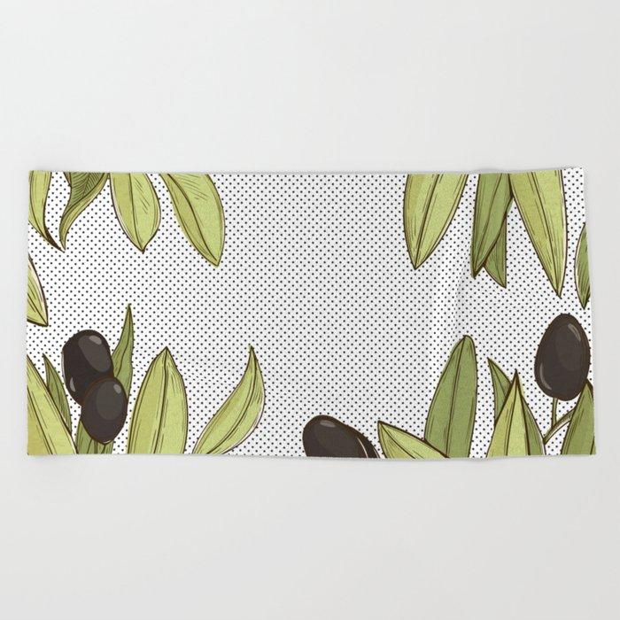 Olive Comfort Beach Towel