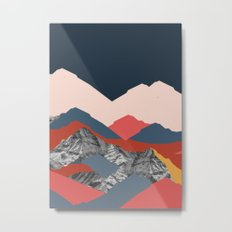 Graphic Mountains X Metal Print