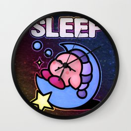 Kirby Sleep Wall Clock