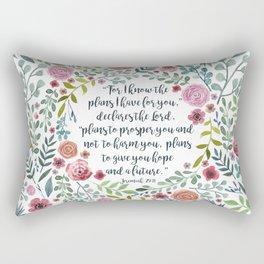 Jeremiah 29:11 Rectangular Pillow