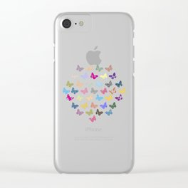 Colorful butterflies Clear iPhone Case