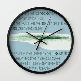 How Doth the Little Crocodile Wall Clock