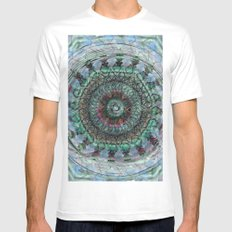 Secrets Of The Mayan Orbs MEDIUM White Mens Fitted Tee