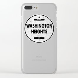 Washington Heights Clear iPhone Case