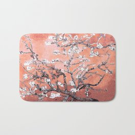 Van Gogh Almond Blossoms : Deep Peach Bath Mat