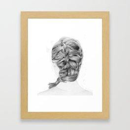 French Braid Framed Art Print