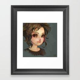 Subtle Smile Framed Art Print