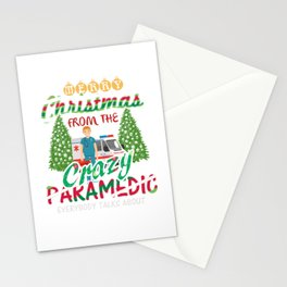 Merry Christmas From The Paramedic Stationery Cards
