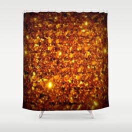 Copper Sparkle Shower Curtain
