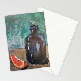 Orange with Blue Bottle Stationery Cards