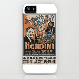 Houdini - vintage poster, spirits iPhone Case