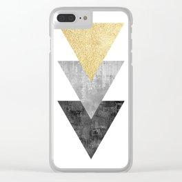 Geometric and modern art XI Clear iPhone Case