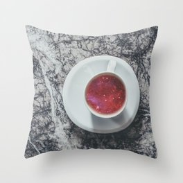 COFFEE PORTAL TO THE UNIVERSE Throw Pillow