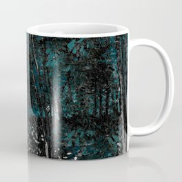 Vincent Van Gogh Trees & Underwood Dark Teal Coffee Mug