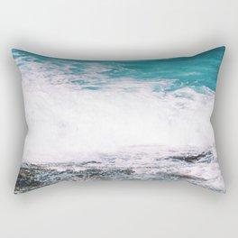 Waiting On the Wave Rectangular Pillow