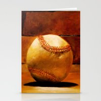 baseball Stationery Cards featuring Baseball by Michelle Sauer