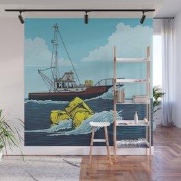 Jaws: Orca Illustration Wall Mural
