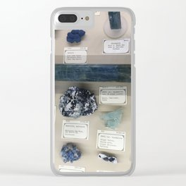 Blue gems Clear iPhone Case