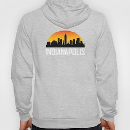 Sunset Skyline of Indianapolis IN Hoody