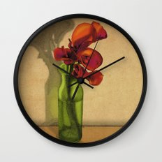 Calla lilies in bloom Wall Clock