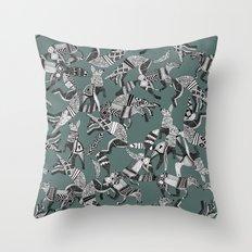 woodland fox party juniper Throw Pillow