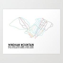 Windham, NY - Minimalist Trail Art Art Print