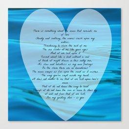Upon Love's Ocean Canvas Print