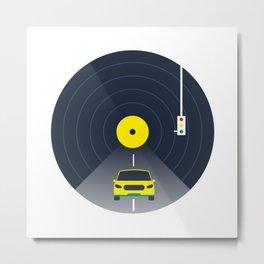 Music car and vinyl #society6 #decor #buyart #artprint Metal Print