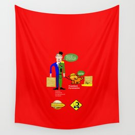 Military–industrial–congressional complex (M. I. C. C.) Wall Tapestry