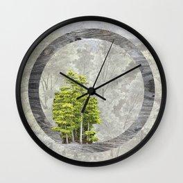 'Trees are sanctuaries' Wall Clock