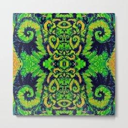 Lush Green Snail Leaf Abstract Metal Print