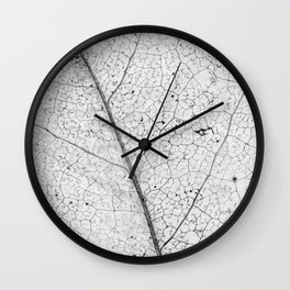 leaf skeleton Wall Clock