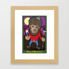 King of Pentacles Framed Art Print