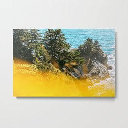 Colors of Summer in Bloom by the Ocean Metal Print