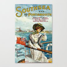 Vintage Southsea Portsmouth England Travel Canvas Print
