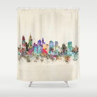 philadelphia Shower Curtains featuring philadelphia pennsylvania by bri.buckley