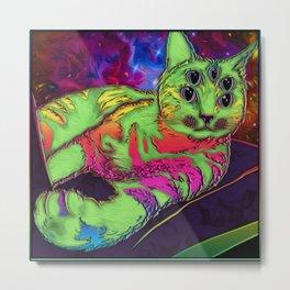 'Space kitty' Metal Print
